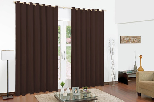 cortina para varão simples 2mx1,8m dubay oxford varias cores