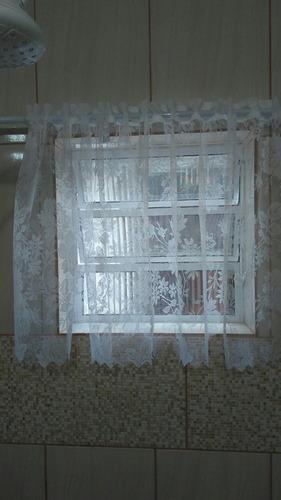 cortina para vitro de banheiro renda 85cmx70 cm