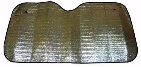 cortina parasol metalizada aluminio p/auto 130 x 60 almagro