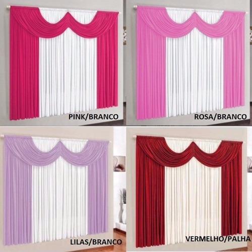 cortina paris 2,00 x 1,70 para sala ou quarto
