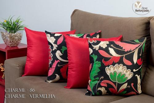 cortina paris 3 metros + 4 almofadas + capas de sofá