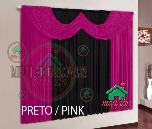 cortina paris c/ bando 3,00mx2,80m  p/sala e quarto promoção