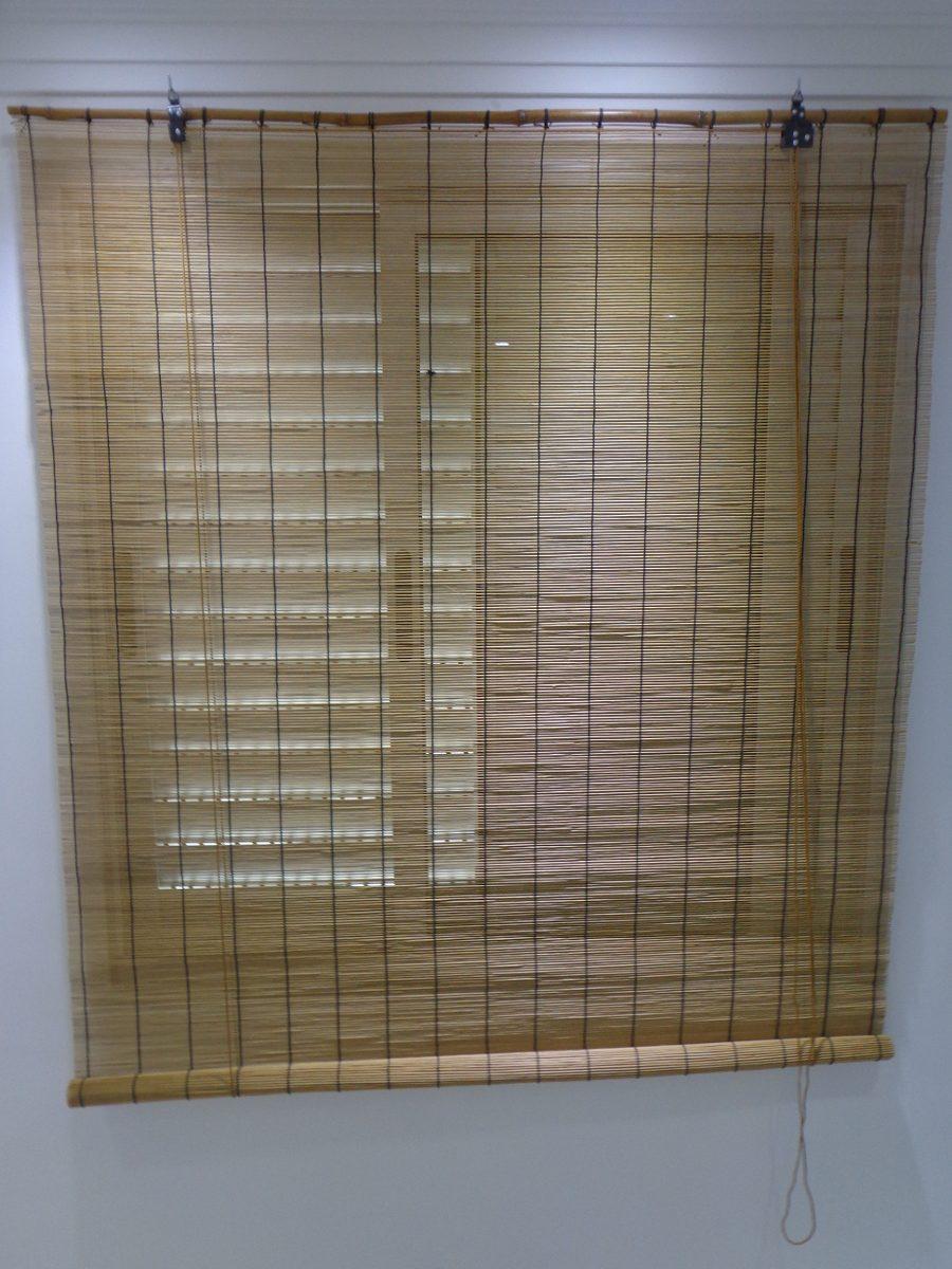 Cortina persiana bamboo roller up 1 40 x 1 60 cm cafe bambu r 139 99 em mercado livre - Persianas roller ...