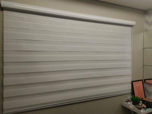 cortina persiana double vision 4 cores brinde bando branco