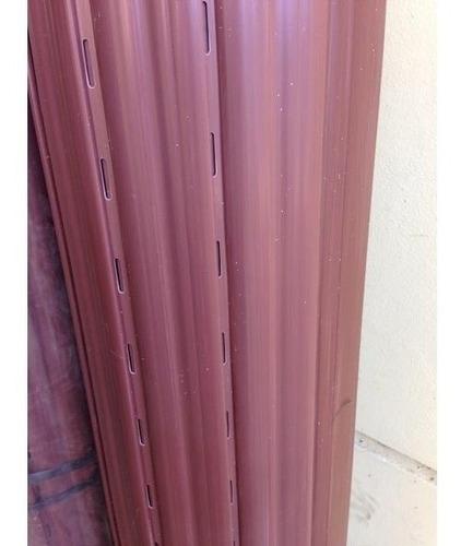 cortina persiana enrrollar pvc marron reforzado 120x110