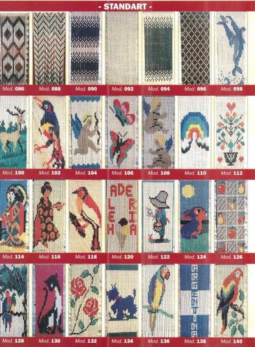 cortina plastica eslabones 0.80x2.00mts varios modelos