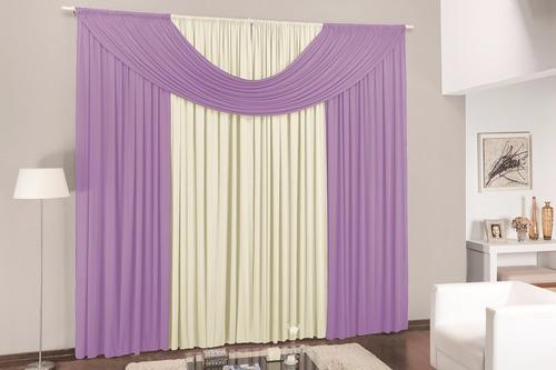 cortina p/sala e quarto cristal tabaco 3,00m p/varão simples