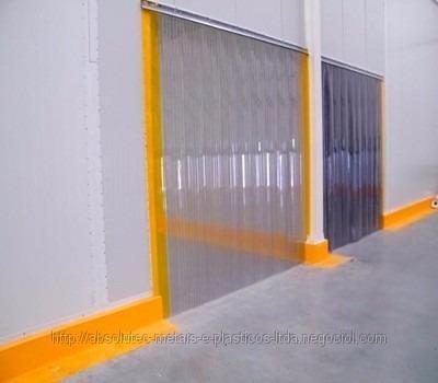 cortina pvc flex completa stand 2x200mm l 1,00 x a 2,10 mt