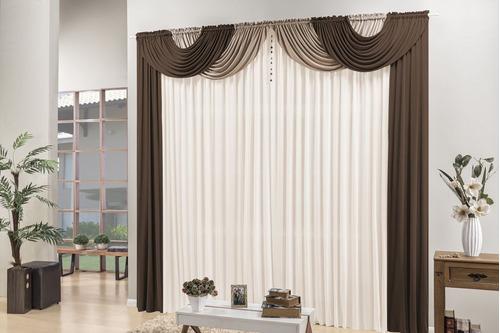 cortina quarto e sala 4,00 x 2,80 com bandô e pingente