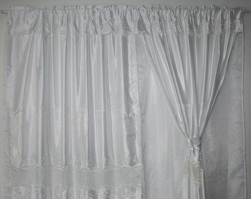 cortina quarto sala bordada sala 2,30x3,00 voil renda luxo