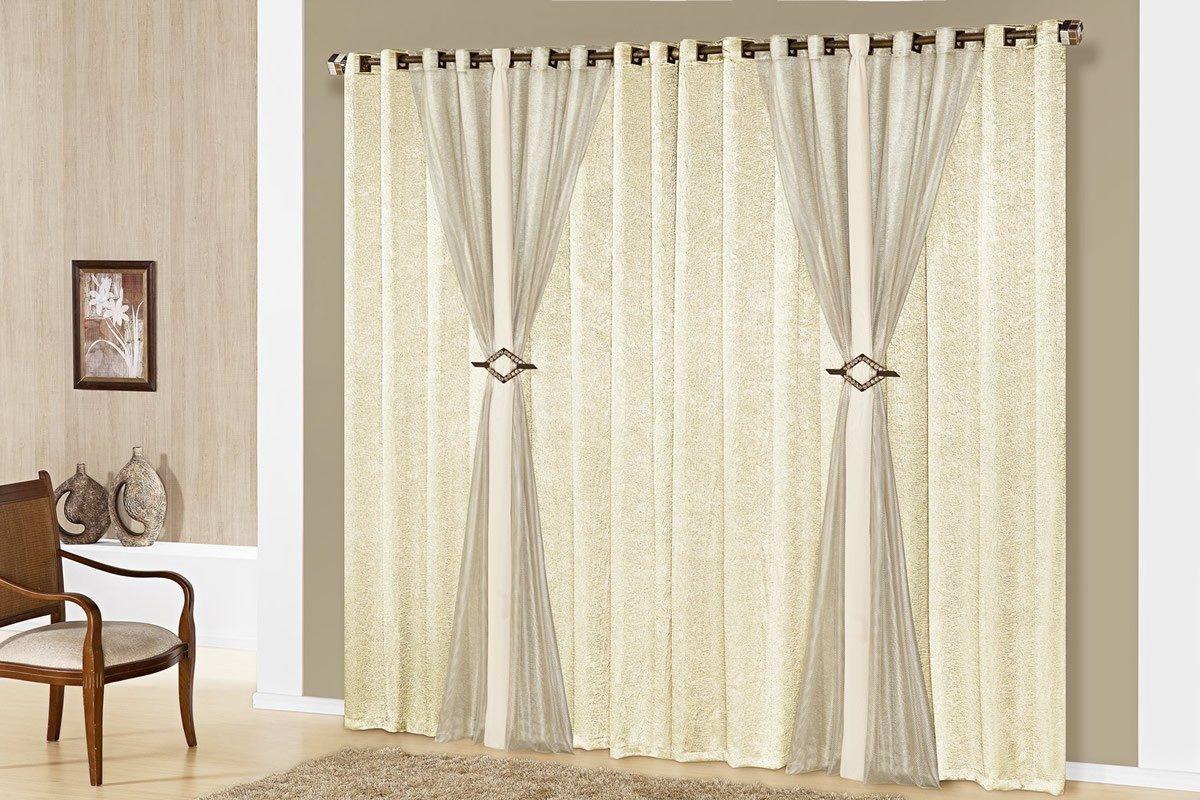 Cortina quartos salas modernas pequenas 15325 r 199 00 for Bases para colgar cortinas