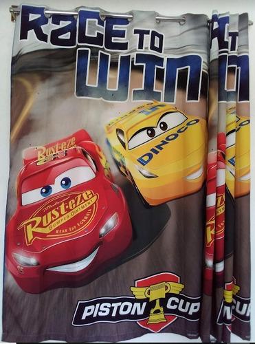 cortina recamara cars con ojillos