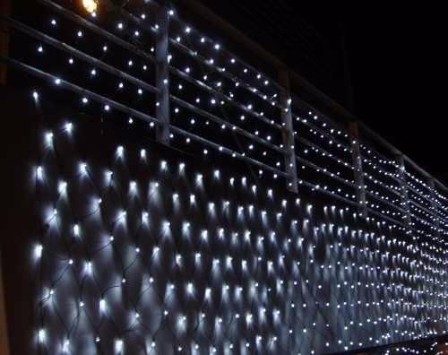 2b68326c103 Cortina Red De Luces Led Blancas Navidad Decoracion Fiestas -   690 ...
