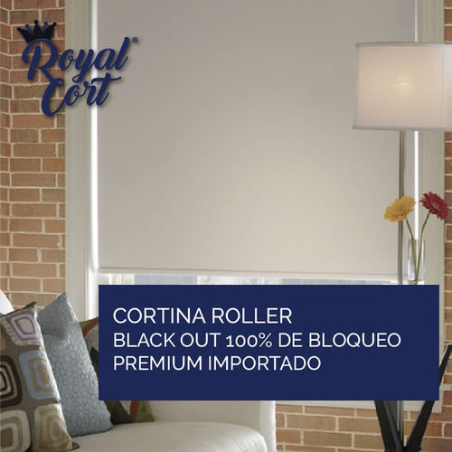 cortina roller black out 100% bloqueo premium importado usa