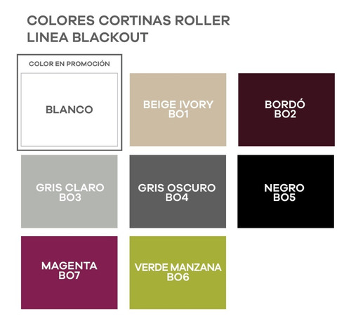 cortina roller black out 100% bloqueo usa, m2