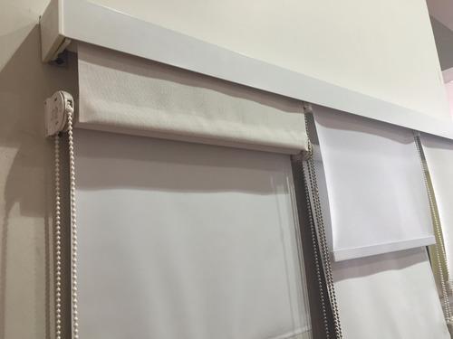cortina roller blackout 100% oscuridad - usa - con cenefa m2