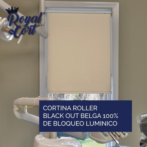 cortina roller blackout belga 100% bloqueo luz