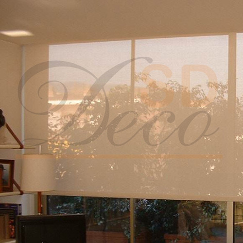 cortina roller de tela translucida sd decoraciones