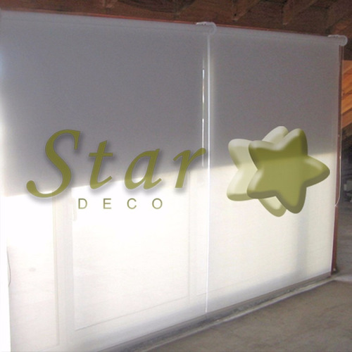 cortina roller doble a medida black out y screen - star deco