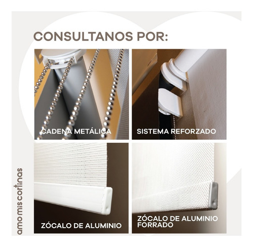 cortina  roller doble blackout +sun screen 5%  m2