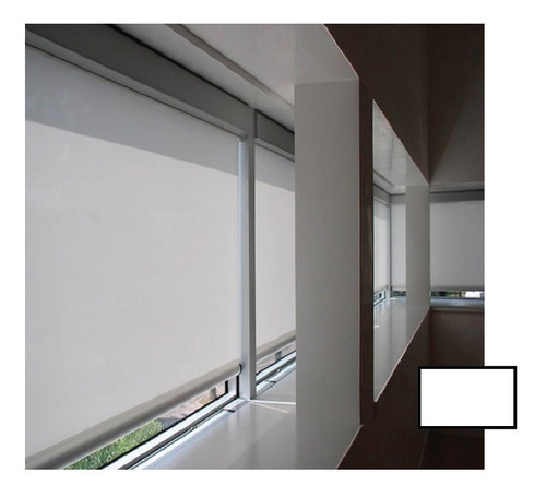 cortina roller opalina blanca pasa la luz no permite visión