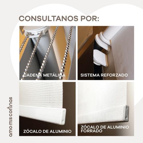 cortina roller opalina luz y privacidad esmerilado m2