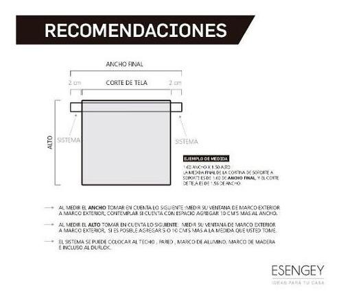 cortina roller screen 5% 240 x 200 para living o cocina