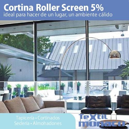 cortina roller screen 7% ambiente calido tela sunscreen usa