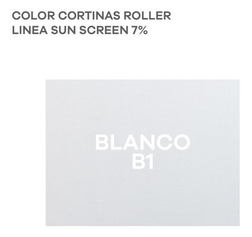 cortina roller screen origen u.s.a. filtra los rayos 7% - m2