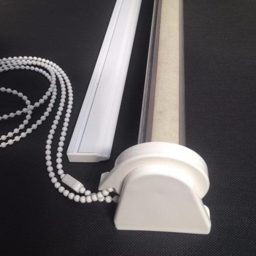 cortina roller - sistema de 1.5 mt.cadena , grampas y zocalo
