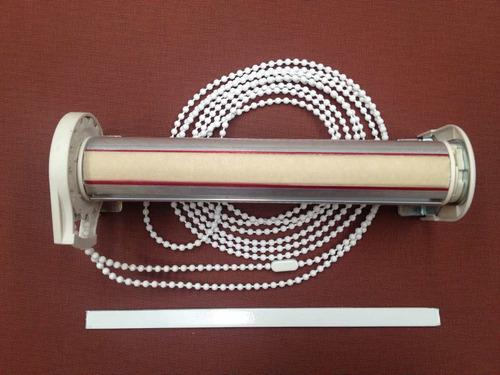cortina roller -sistema sin tela, eje gueso  38mm. $ x metro