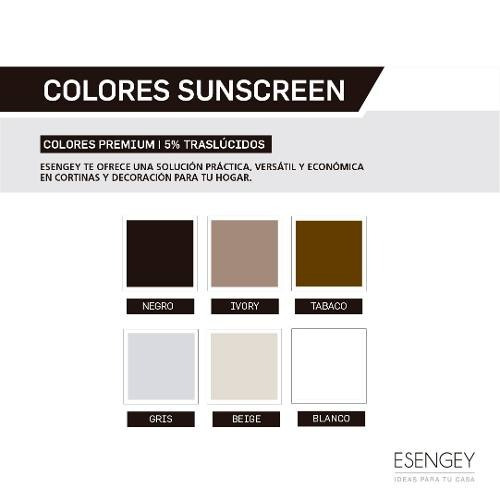 cortina roller sunscreen 5% 250 x 200 para living o cocina