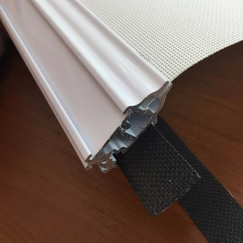 cortina roller - zocalo doble aluminio c/tapas, precio x mt.