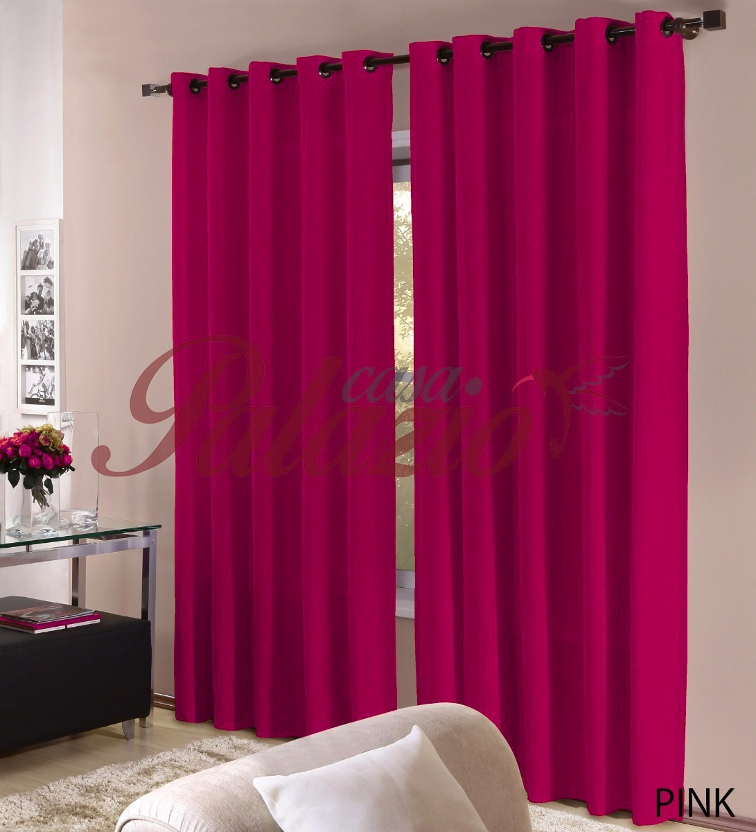 cortinas para quarto feminino vermelho