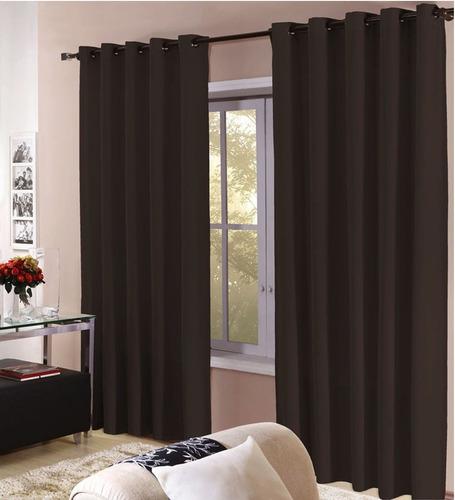 cortina roma 3,00x2,50 com ilhos para varão - diversas cores