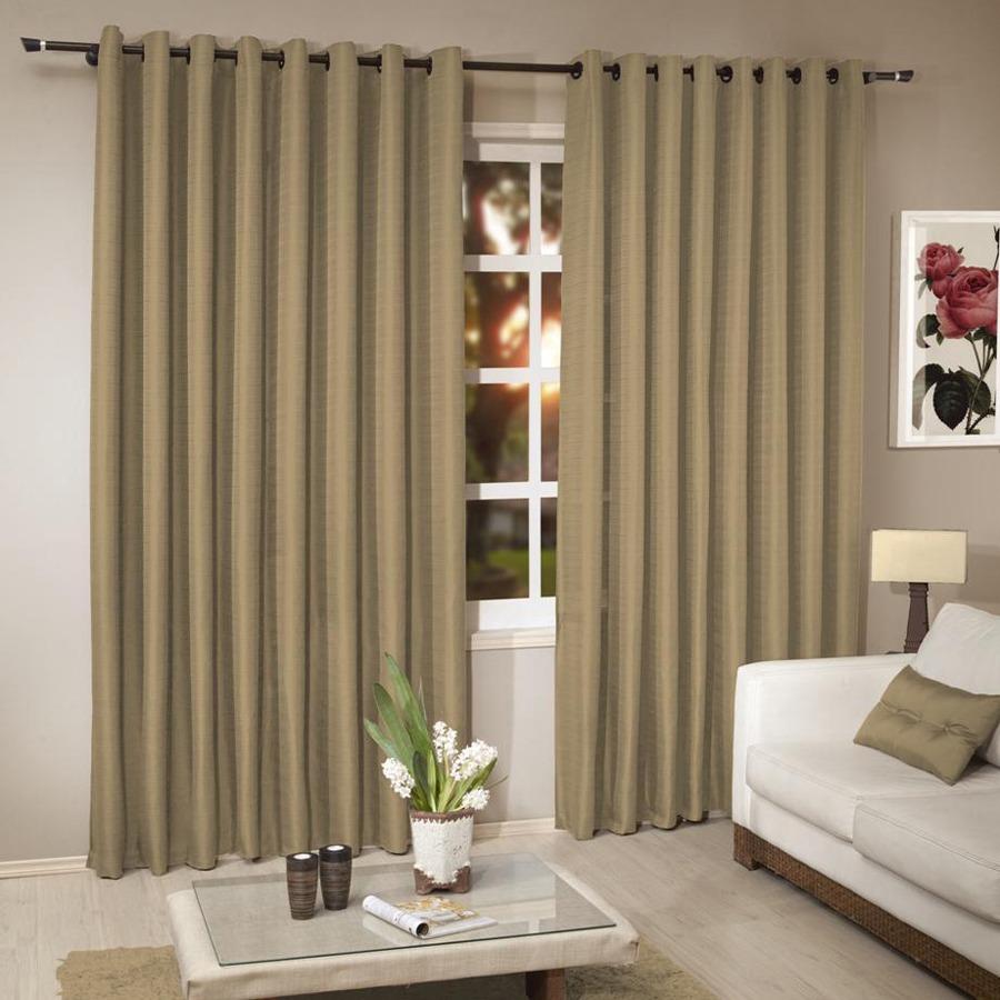 Cortina r stica bege p var o 3 00x 2 50 d p sala e for Modelos de cortinas rusticas