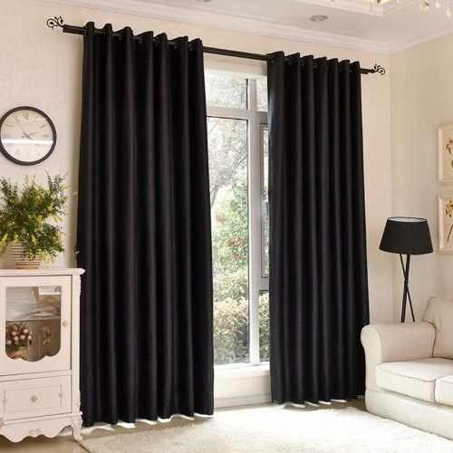 cortina rústica preta 3,00 x 2,80 - admirare