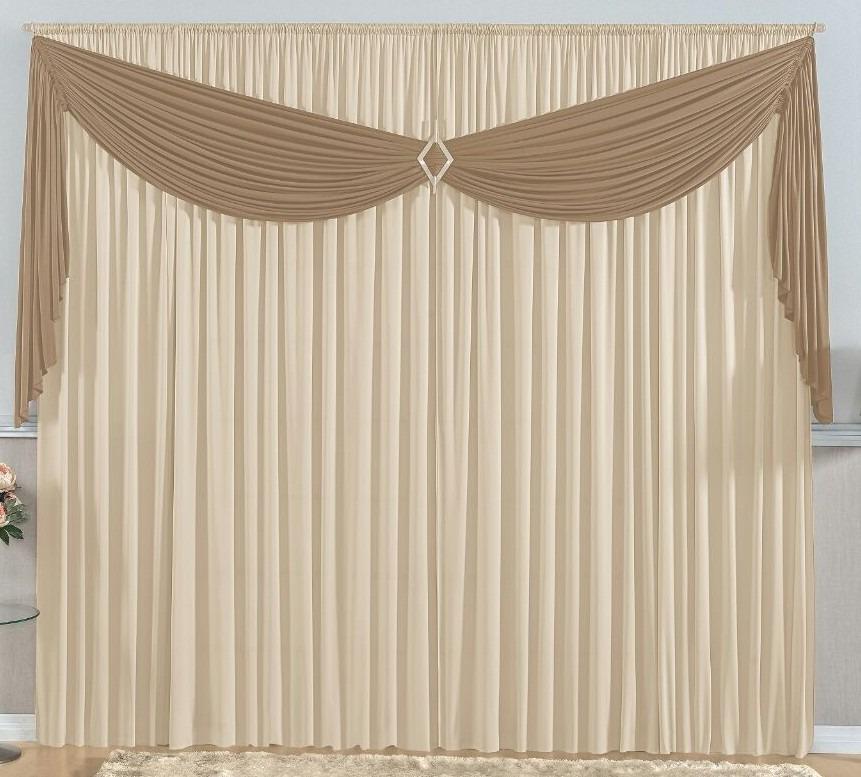 Cortina sala cinza com preto c prendedor malha 3 00x2 80 - Formas de cortinas ...