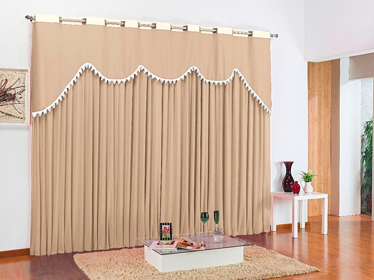 Cortina sala maya bege 3 00x2 50 malha r 129 99 em - Buscar cortinas para salas ...