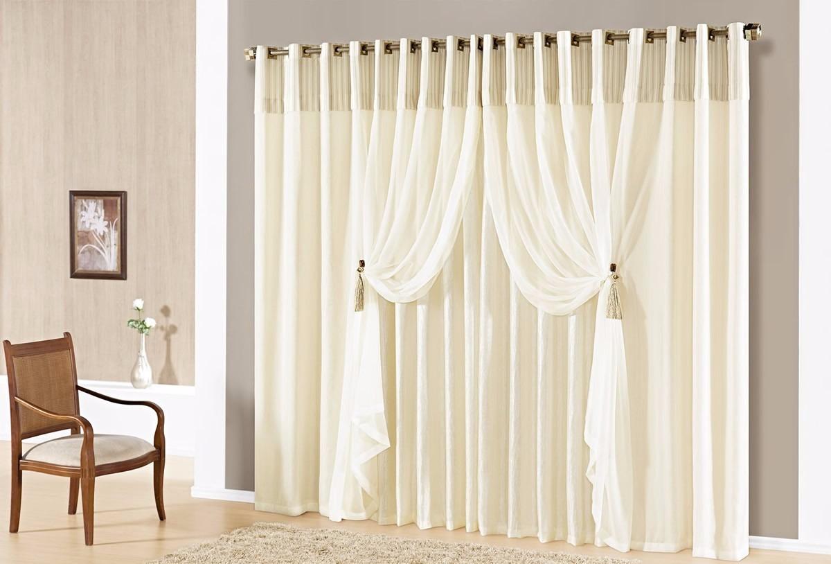 Cortina sala quarto lunna 3 00m x 2 70m 15005 r 297 00 for Buscar cortinas para salas