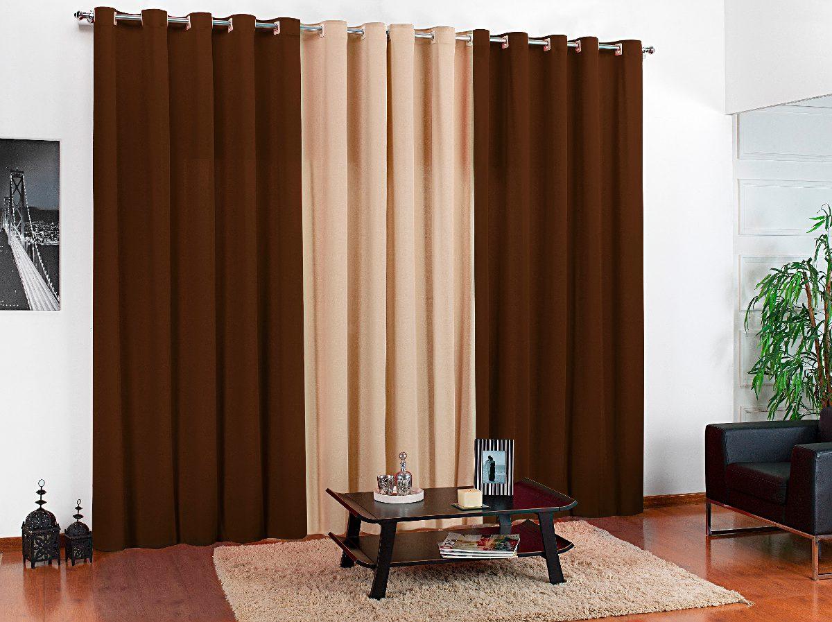 Cortina sala quarto tabaco bege 3 00x2 50 para var o - Buscar cortinas para salas ...