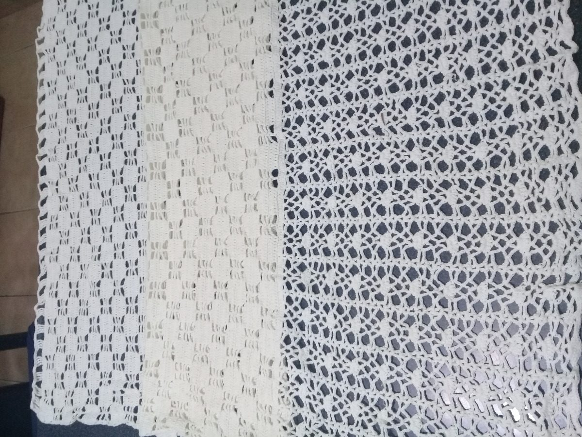 Cortina Simple Crochet Hilo Fino - $ 1.180,00 en Mercado Libre