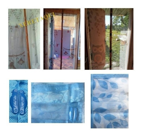 cortina tela mosquiteira p/ porta ima magnetica magic rede