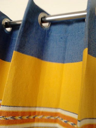 cortina telar oaxaqueño 150 x 220   dos cortinas.