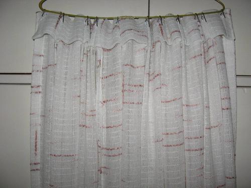 cortina tipo telar 2 paños