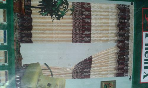 cortina unicolor doble paño con cenefa...  oferta..!