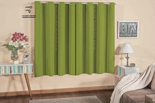 cortina varão para sala / quarto 2,00m x 1,80m não e blckout