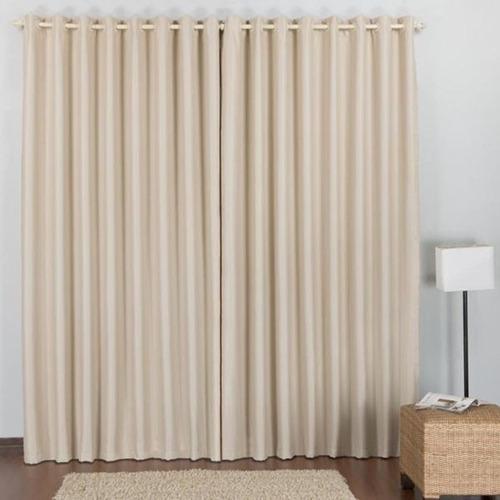 cortina veda luz blackout 2,80larg x 1,60alt para varão