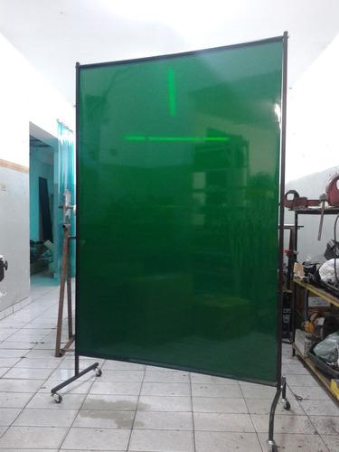 cortina verde lençol área de solda 1,22 x 1,78