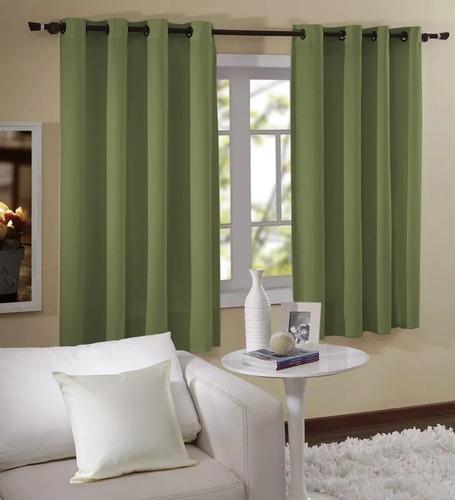 cortina verde para janela 1,80x2,00 barcelona- imperdível